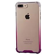 Недорогие Кейсы для iPhone 8-Кейс для Назначение Apple iPhone 8 iPhone 8 Plus Защита от удара Прозрачный Кейс на заднюю панель Градиент цвета Мягкий ПК для iPhone 8