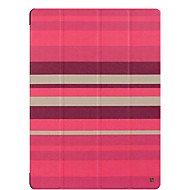 For apple ipad pro 12.9 '' case cover with stand flip origami full body case líneas / ondas hard pu leather