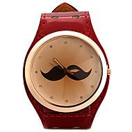 voordelige Modieuze horloges-Dames Modieus horloge Unieke creatieve horloge Gesimuleerd Diamant Horloge Chinees Kwarts imitatie Diamond Leer Band Glitter Snorren