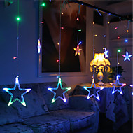 10m 60led rgb karácsonyi fények csillag fények ünnep esküvői party dekoráció függöny fények lámpa fények 220v