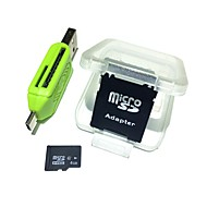 Недорогие Карты памяти-4gb microsdhc tf карта памяти с 2 в 1 usb otg card reader micro usb otg