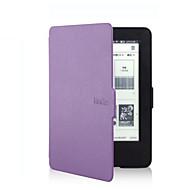 tanie Kindle: etui-Kılıf Na Amazon Kindle Futerały pełne Pełne etui Solid Color Twarde Skóra PU na