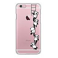Назначение iPhone X iPhone 8 Чехлы панели Прозрачный С узором Задняя крышка Кейс для Мультипликация Панда Мягкий Термопластик для Apple