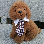 Недорогие Бижутерия и аксессуары для собак-Кошка Собака пояс/Бабочка Одежда для собак Черный Кофейный Красный Зеленый Радужный Терилен Костюм Для домашних животных Муж. Косплей