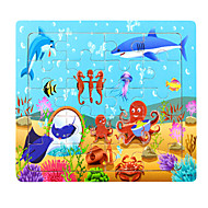 cheap Toys & Hobbies-Jigsaw Puzzle Toys Dolphin Fish Lobster 3D Cartoon Wooden Not Specified Pieces