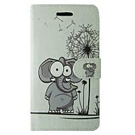 preiswerte -Hülle Für Apple iPhone 7 Plus iPhone 7 Kreditkartenfächer Geldbeutel mit Halterung Flipbare Hülle Muster Ganzkörper-Gehäuse Elefant