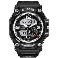 Недорогие Фирменные часы-SMAEL Муж. Спортивные часы Наручные часы электронные часы Цифровой 30 m Защита от влаги Будильник LED Pезина Группа Аналого-цифровые камуфляж Мода Черный - Светло-синий Хаки Камуфляж Зеленый