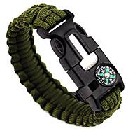 voordelige Kampeer- & Backpackingaccessoires-Fluiten / Fire Starter / Survival Armband - Fire Starter, Fluitje, mes Verstelbaar, Tactisch, Multi Function voor Kamperen&Wandelen / Jagen / Vissen - Nylon