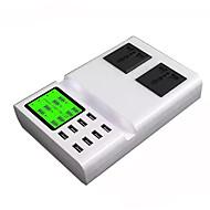 Cargador usb 8 puertos Estación de cargador de escritorio Con identificación inteligente Pantalla LCD Stand dock Enchufe USA Enchufe UE