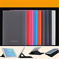 Недорогие Чехлы и кейсы для Samsung Tab-Кейс для Назначение SSamsung Galaxy Вкладка 9,7 Вкладка 8,0 Кейс для  Samsung Galaxy со стендом Флип Магнитный Чехол Сплошной цвет Кожа PU