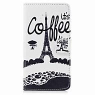 Недорогие Чехлы и кейсы для Galaxy S-Кейс для Назначение SSamsung Galaxy S8 Plus S8 Бумажник для карт Кошелек со стендом Флип С узором Чехол Эйфелева башня Твердый Кожа PU для