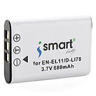 Ismartdigi EL11 3.7V 680mAh Camera Battery for Nikon EN-EL11 Coolpix S01 S02 S550 S560 S660