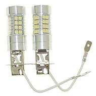 abordables -SENCART 2pcs H3 Automatique Ampoules électriques 36W SMD 3030 1500-1800lm Ampoules LED Feu Antibrouillard
