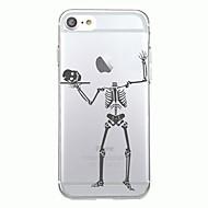 Voor iphone 7plus case cover transparant patroon achterkant hoesje halloween skelet soft tpu voor iphone 7 6splus 6plus 6s 6 5 5s se