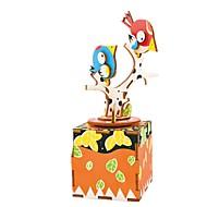 cheap Toys & Hobbies-Music Box Toys DIY Bird Carousel Wood Pieces Kid Unisex Birthday Valentine's Day Gift