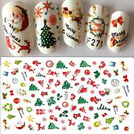 1 Nail Art matrica 3D Karácsony Matrica smink Kozmetika Nail Art Design