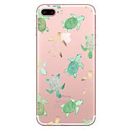 Недорогие Кейсы для iPhone 8-Кейс для Назначение Apple iPhone X / iPhone 8 Прозрачный / С узором Кейс на заднюю панель Животное Мягкий ТПУ для iPhone X / iPhone 8 Pluss / iPhone 8
