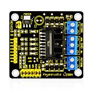 Keyestudio uusi l298n suojus dual h silta dc stepper drive ohjainlaite moduuli arduino älykäs auto robotti