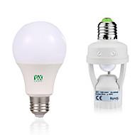 billige LED-globepærer-12W E27 LED-globepærer 24 leds SMD 2835 Menneskekroppssensor Dekorativ Varm hvid Hvid 1050-1250lm 6000-6500/2800-3200