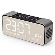 お買い得  スピーカー-Q8 ミニスタイル Bluetooth 表示時間 3.5mm AUX ゴールド ブラック ローズピンク ライトブルー