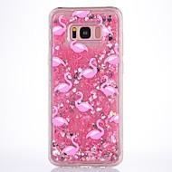 hoesje Voor Samsung Galaxy S8 Plus S8 Stromende vloeistof Transparant Patroon Achterkantje Flamingo Zacht TPU voor S8 S8 Plus S7 edge S7