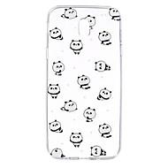 Funda Para Samsung Galaxy J7 (2017) J3 (2017) Transparente Diseños Cubierta Trasera Animal Oso Panda Suave TPU para J7 (2016) J7 Prime J7