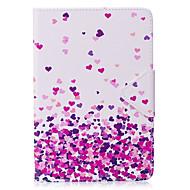 voordelige iPad-hoesjes/covers-Hoesje voor ipad mini 1 2 3 mini 4 hoesje hoesje hart patroon pu materiaal triple tablet pc hoesje telefoon hoesje