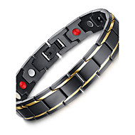 Men's Chain Bracelet / Magnetic Bracelet - Stainless Steel, Titanium Steel Friends Luxury, Vintage, Bohemian Bracelet Black For Christmas / Christmas Gifts / Party