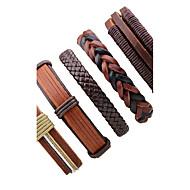 Men's Women's Leather Leather Bracelet - Fashion Rock Irregular Brown Bracelet For Stage Going out