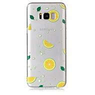 Недорогие Чехлы и кейсы для Galaxy S7 Edge-Кейс для Назначение SSamsung Galaxy S8 Plus S8 Прозрачный С узором Кейс на заднюю панель Фрукты Мягкий ТПУ для S8 Plus S8 S7 edge S7