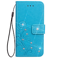 Недорогие Чехлы и кейсы для Galaxy Note-Кейс для Назначение SSamsung Galaxy Бумажник для карт Кошелек со стендом Флип Рельефный Чехол Цветы Твердый Кожа PU для Note 5 Note 4