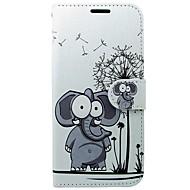 Kılıf Na Samsung Galaxy S8 S7 Portfel Etui na karty Z podpórką Flip Wzór Futerał Słoń Twarde Sztuczna skóra na S8 S7 S6 edge S6 S5 Mini