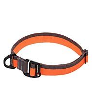 お買い得  -犬 バンダナ(首輪) アンチスリップ 安全用具 調整可能 ソリッド ネット ナイロン ブラック オレンジ イエロー レッド