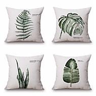 cheap Home Textiles-4 pcs Cotton/Linen Pillow Case, Pattern Traditional/Classic