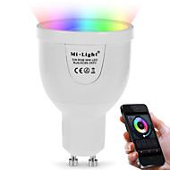 abordables Bombillas LED Inteligentes-5W 500lm GU10 Bombillas LED Inteligentes A60(A19) 12 Cuentas LED SMD 5730 Wifi Sensor de infrarrojos Regulable Control de luz Control