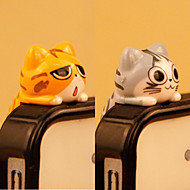 abordables Cadenas de Adorno para Móvil-pvc diy del juguete de la historieta del gato del enchufe del anti-polvo diy para la galaxia s8 s7 samsung del iphone 8 7