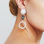 tanie Wybór edytora-Damskie Pearl imitacja Spersonalizowane Seksowny euroamerykańskiej Film Biżuteria Wyrazista biżuteria Modny Miedź Circle Shape Biżuteria