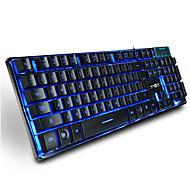 رويينياو الألعاب المعدنية الخلفية لوحة المفاتيح 104 مفاتيح كابل أوسب 3 ألوان