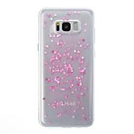 billige Galaxy S7 Etuier-Etui Til Samsung Galaxy S8 Plus S8 Gennemsigtig Bagcover Hjerte Glitterskin Blødt TPU for S8 S8 Plus S7 edge S7
