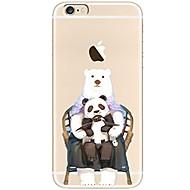 Назначение iPhone X iPhone 8 Чехлы панели Ультратонкий Прозрачный С узором Задняя крышка Кейс для Мультипликация Панда Мягкий Термопластик