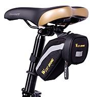 preiswerte -West biking Fahrradtasche Fahrrad-Sattel-Beutel Reflexstreifen Regendicht Wasserdichter Reißverschluß Leicht Tasche für das Rad Stoff