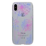 Недорогие Кейсы для iPhone 8 Plus-Кейс для Назначение Apple iPhone X iPhone X iPhone 8 iPhone 8 Plus Прозрачный С узором Кейс на заднюю панель одуванчик Мягкий ТПУ для