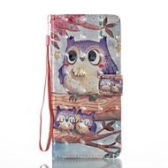 Кейс для Назначение SSamsung Galaxy Note 8 Кошелек Бумажник для карт со стендом Флип С узором Магнитный Чехол Сова Твердый Искусственная