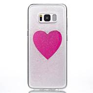 Кейс для Назначение SSamsung Galaxy S8 Plus S8 Прозрачный С узором Своими руками Задняя крышка С сердцем Мягкий TPU для S8 S8 Plus S7