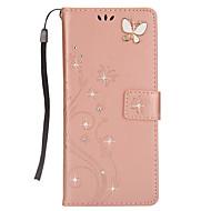 Кейс для Назначение SSamsung Galaxy Note 8 Кошелек Бумажник для карт Стразы со стендом Флип С узором Магнитный Чехол Бабочка Твердый