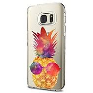 olcso Galaxy S4 tokok-Case Kompatibilitás Samsung Galaxy S8 Plus S8 Átlátszó Minta Hátlap Gyümölcs Puha TPU mert S8 S8 Plus S7 edge S7 S6 edge plus S6 edge S6