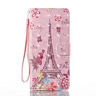 Кейс для Назначение SSamsung Galaxy Note 8 Кошелек Бумажник для карт со стендом Флип С узором Чехол Эйфелева башня Твердый Искусственная