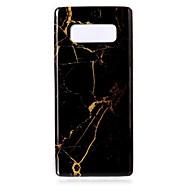 Недорогие Чехлы и кейсы для Galaxy Note-Кейс для Назначение SSamsung Galaxy Note 8 IMD / С узором Кейс на заднюю панель Мрамор Мягкий ТПУ для Note 8