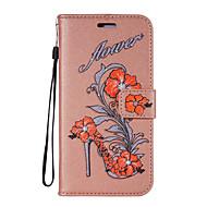olcso Mobiltelefon tokok-a tok fedelének kártyatartó pénztárca állvány flip minta teljes test eset virág csillogás kemény pu bőr lg lg k10 lg k8 (2017)