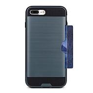 ケース 用途 Apple iPhone 7 / iPhone 7 Plus カードホルダー バックカバー ソリッド ハード PC のために iPhone 7 Plus / iPhone 7 / iPhone 6s Plus